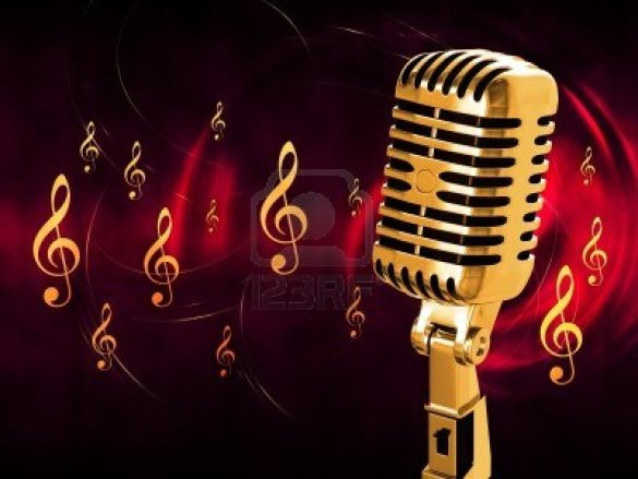 12499056-gold-vintage-microphone-on-the-background