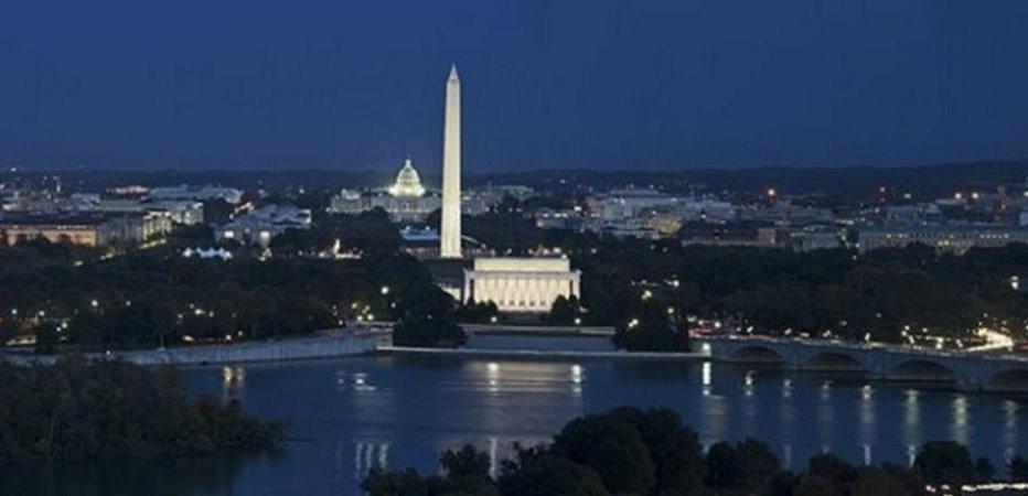 Washington DC at twilight